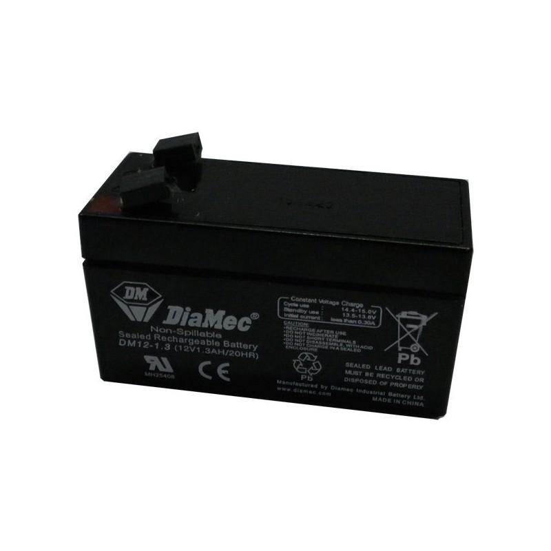 Bateria Diamec 12V 1,3Ah Terminal F1