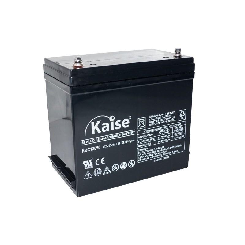 Bateria Kaise Deep Cycle 12V 55Ah Terminal F11