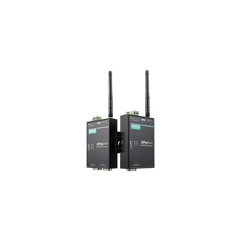 Servidor Portas Série Wireless NPort W2150A-T 1-port RS-232/422/485 IEEE 802.11a/b/g